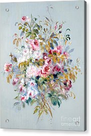 A Bouquet Of Roses Acrylic Print by Pierre Auguste Renoir