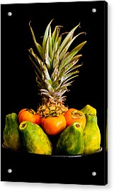 A Bowl Of Hawaiian Fruit Acrylic Print by Roger Mullenhour