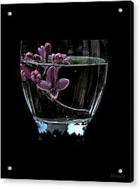 A Bowl Of Lilacs Acrylic Print by Marija Djedovic