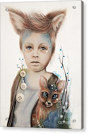 A Boy And His Fox   Acrylic Print by Sheena Pike