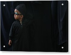 A Boy In The Rows Of Women Acrylic Print