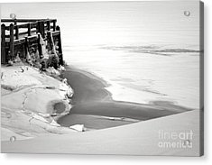 A Break In The Kennebec Acrylic Print by Olivier Le Queinec