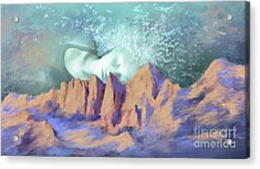 Acrylic Print featuring the painting A Breath Of Tranquility by S G