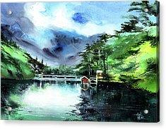 A Bridge Not Too Far Acrylic Print by Anil Nene
