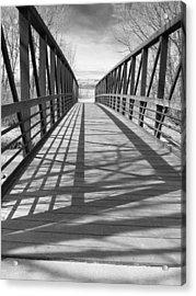 Acrylic Print featuring the photograph A Bridge Too Far by Irma BACKELANT GALLERIES