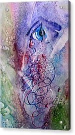 A Broken Eye Still Cries Acrylic Print by Marsha Elliott