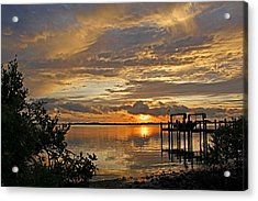 A Brooding Sunset Sky Acrylic Print by HH Photography of Florida