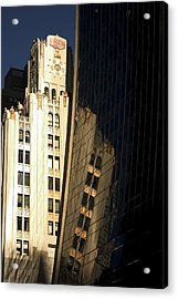 A Building Into A Building Acrylic Print by Karol Livote