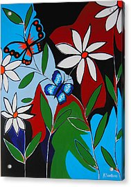 Acrylic Print featuring the painting A Butterflies Paradise by Kathleen Sartoris