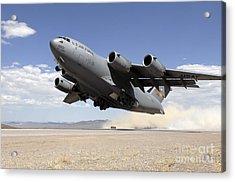 A C-17 Globemaster Departs Acrylic Print by Stocktrek Images