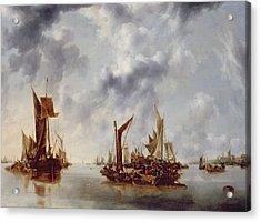 A Calm Acrylic Print by Jan van de Capelle