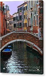 A Canal In Venice Acrylic Print