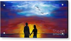 Acrylic Print featuring the painting A Captivating Love by Leslie Allen