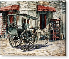 A Carriage On Crisologo Street Acrylic Print