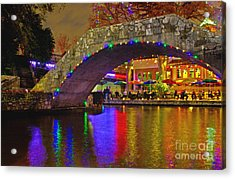 A Casa Rio Christmas On The Riverwalk Acrylic Print