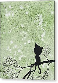A Cat In A Tree Acrylic Print