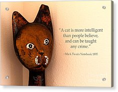 A Cat Is More Intelligent Acrylic Print
