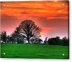 A Celtic Sunset Acrylic Print by Kim Shatwell-Irishphotographer