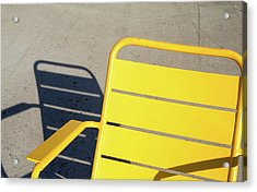 A Chair And Its Shadow Acrylic Print