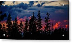 Acrylic Print featuring the photograph A Chance Of Thundershowers by Albert Seger