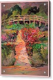 A Charming Path Acrylic Print by Mindy Newman