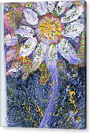 A Child Is Like A Flower Acrylic Print by Anne-Elizabeth Whiteway