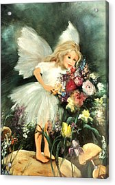 A Childs Dream Acrylic Print by Sally Seago