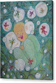 A Childs First Laugh Acrylic Print
