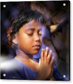 A Child's Prayer Acrylic Print