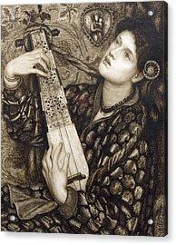 A Christmas Carol Acrylic Print by Dante Gabriel Charles Rossetti