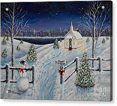 A Christmas Eve Acrylic Print