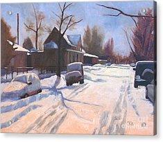 A Christmas Snow Acrylic Print
