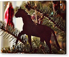 A Christmas Trot Acrylic Print by JAMART Photography