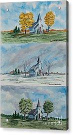 A Church For All Seasons Acrylic Print by Charlotte Blanchard