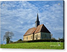 A Church In France Acrylic Print by Olivier Le Queinec