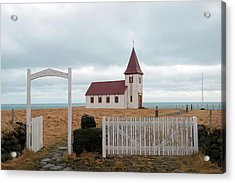 Acrylic Print featuring the photograph A Church With No Fence by Dubi Roman