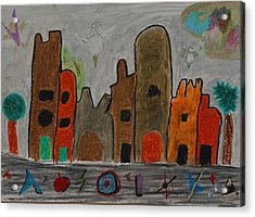 A Child's View Of Downtown Acrylic Print by Harris Gulko