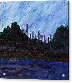 Acrylic Print featuring the painting A City That Never Sleeps by Vadim Levin