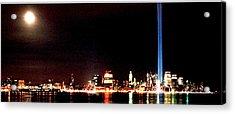 A City's Lights Acrylic Print by Richard Gerken