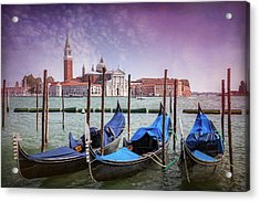 A Classic View Of Venice Italy  Acrylic Print
