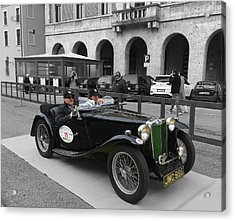 A Classic Vintage British Mg Car Acrylic Print