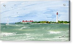 A Clear Day At Cape May Point  Acrylic Print by Nancy Patterson