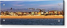 Acrylic Print featuring the photograph A Clear Day At The Beach by James Eddy
