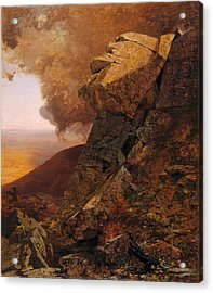 A Cliff In The Catskills Acrylic Print by Jervis McEntee