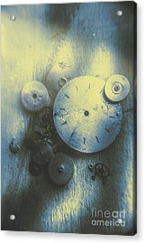 A Clockwork Blue Acrylic Print