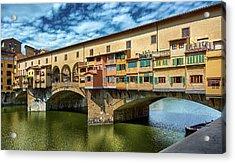A Closer Look To Ponte Vecchio Acrylic Print