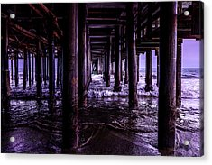 A Cloudy Day Under The Pier Acrylic Print