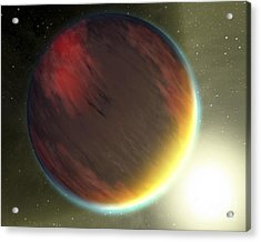 A Cloudy Jupiter-like Planet That Acrylic Print by Stocktrek Images