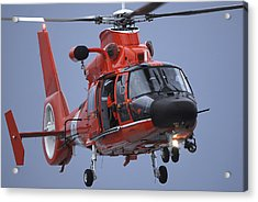 A Coast Guard Mh-65 Dolphin Helicopter Acrylic Print by Stocktrek Images