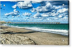 A Cold Day In Florida 62f Acrylic Print by Dieter Lesche